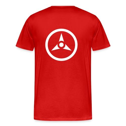 fsr_old_back_red_premium - Männer Premium T-Shirt