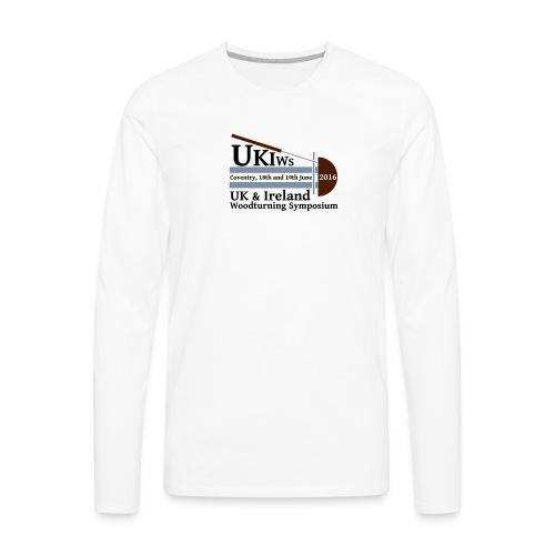 UKIWS Long Sleeve T - Large Logo - Men's Premium Longsleeve Shirt