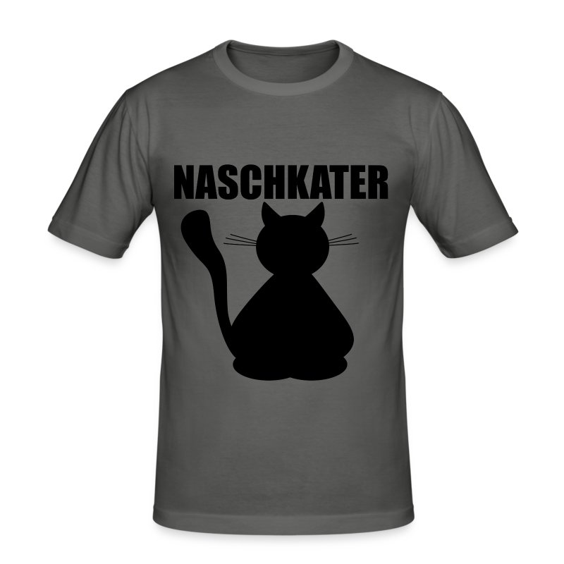 f r m nnliche naschkatzen t shirts m nner slim fit t shirt. Black Bedroom Furniture Sets. Home Design Ideas