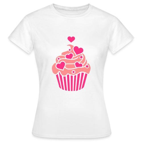 tee shirt cupcakes  - T-shirt Femme