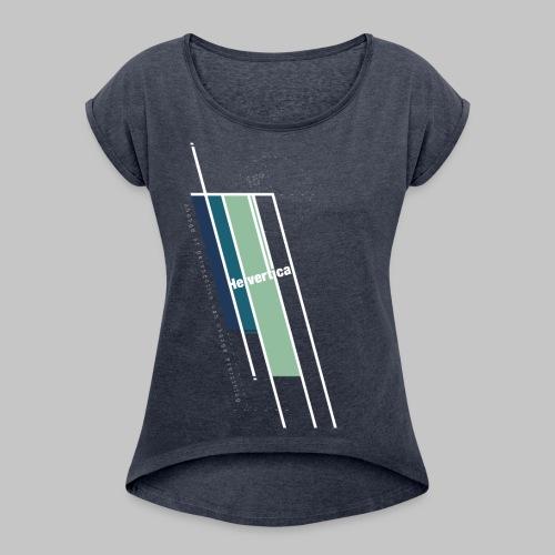 Helvertical - Frauen T-Shirt mit gerollten Ärmeln