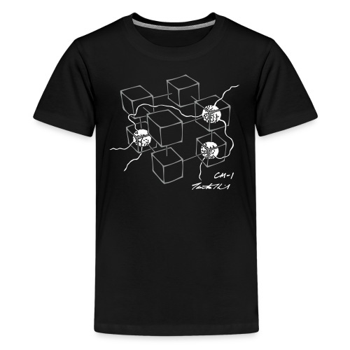 CM-1 teen's black/white - Teenage Premium T-Shirt
