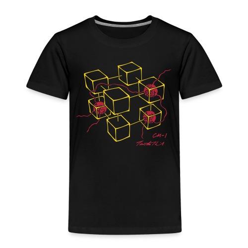 CM-1 Logo kid's black/red - Kids' Premium T-Shirt