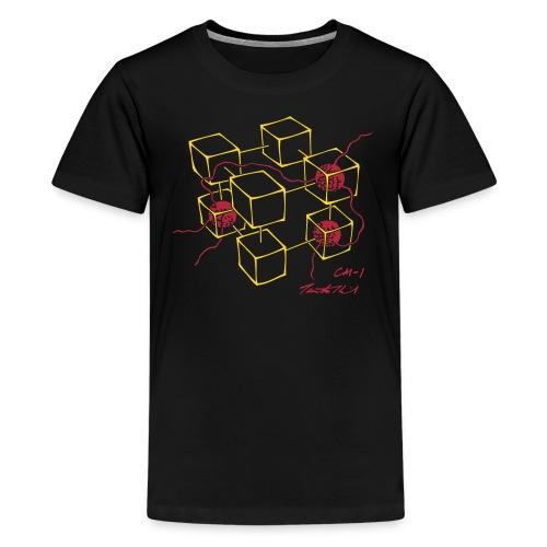 CM-1 Logo teen's black/red - Teenage Premium T-Shirt