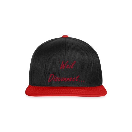 Schwarz-Rote Weil Disconnect Snapback - Snapback Cap