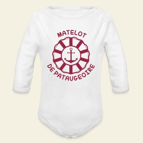 Matelot de Pataugeoire - Body bébé bio manches longues