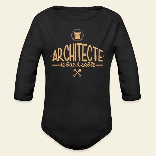 Architecte de bac à sable - Body bébé bio manches longues