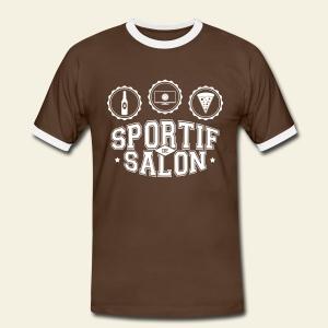 Sportif de salon - T-shirt contrasté Homme