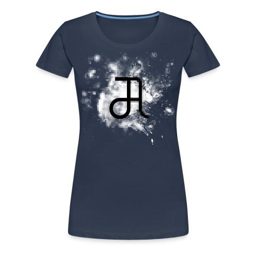 Glyphe Pixelart ♀ - Frauen Premium T-Shirt