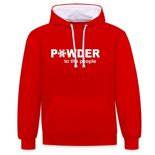 Powder to the People - Mens - Contrast Colour Hoodie