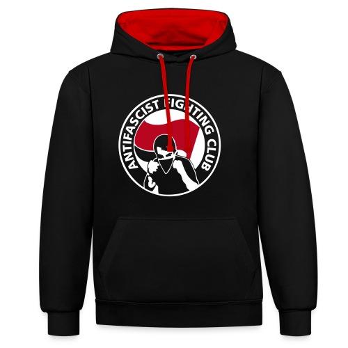 Antifascist Fight Club Hoodie 2 Farbig - Kontrast-Hoodie