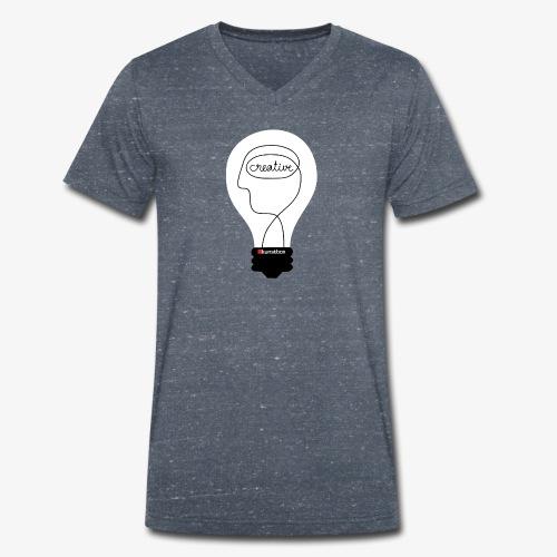 Kunstbox Kreativleuchte - Männer Bio-T-Shirt mit V-Ausschnitt von Stanley & Stella