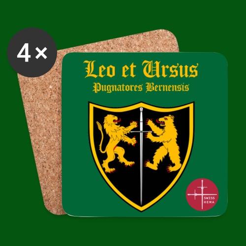 Untersetzer Leo et Ursus grün - Untersetzer (4er-Set)