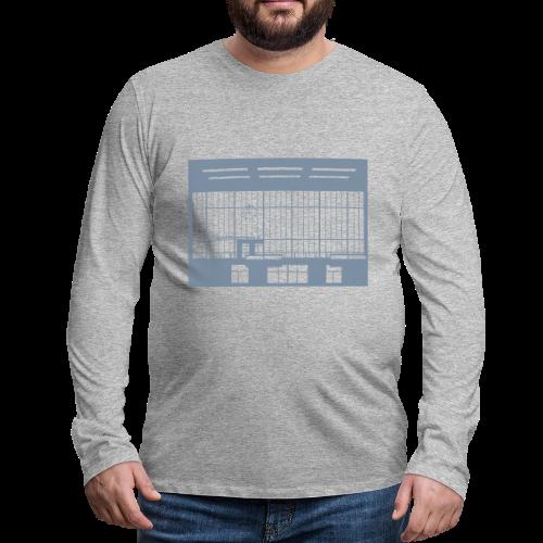 Abfertigungshalle THF (silber) - Männer Premium Langarmshirt