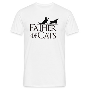 Camiseta blanca Father of cats - Camiseta hombre