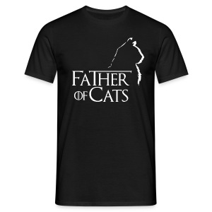 Camiseta negra Father of cats - Camiseta hombre