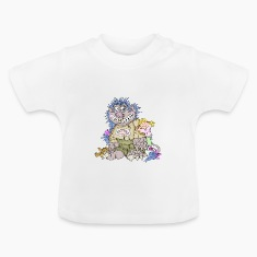 Monster, girl, love Baby Shirts