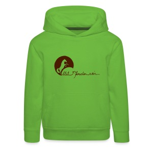Front Rearing up -Back Proud Horse Kids Hoody ( Print : Brown) - Kinder Premium Hoodie