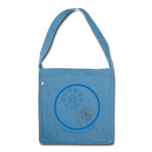 PCD Schultertasche Recycling-Bio Pusteblume - Schultertasche aus Recycling-Material