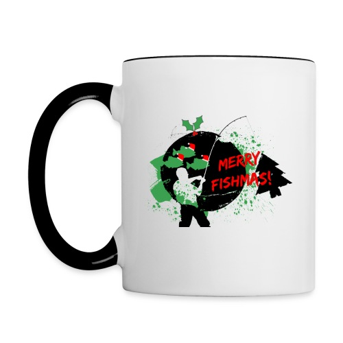 River Monsters Christmas Mug - Contrasting Mug