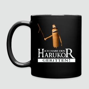 Tasse Ich habe den Harukor geritten dunkle Farben - Tasse einfarbig