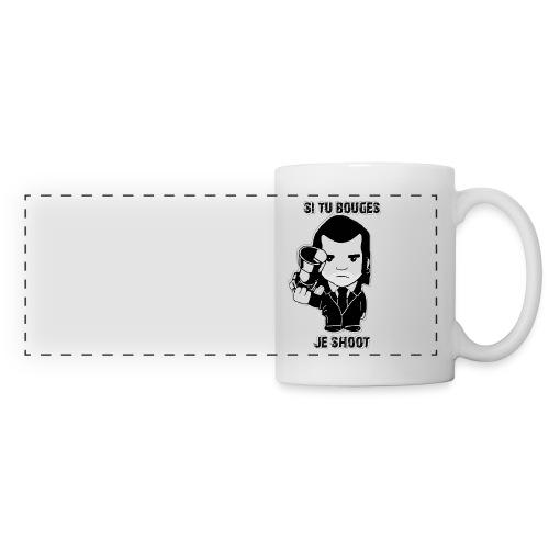 bouges, je shoot - tasse gaucher - Mug panoramique contrasté et blanc