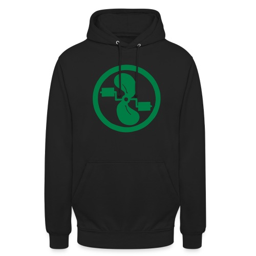 pedal power unisex green on black - Unisex Hoodie
