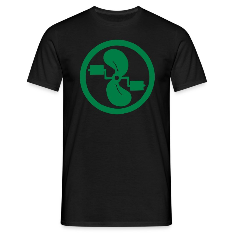 pedal power men's green on black - Men's T-Shirt