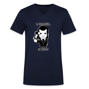 bouges, je shoot - tee shirt homme 4 - T-shirt Homme col V