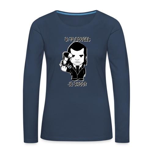 bouges, je shoot - pull femme 1 - T-shirt manches longues Premium Femme