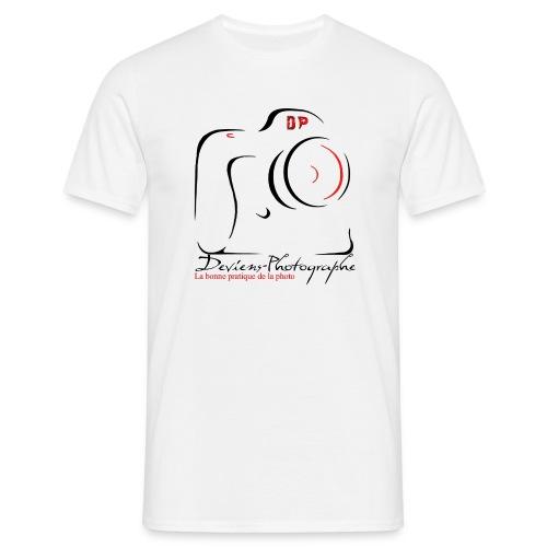 Tee shirt Homme blanc grand logo - T-shirt Homme