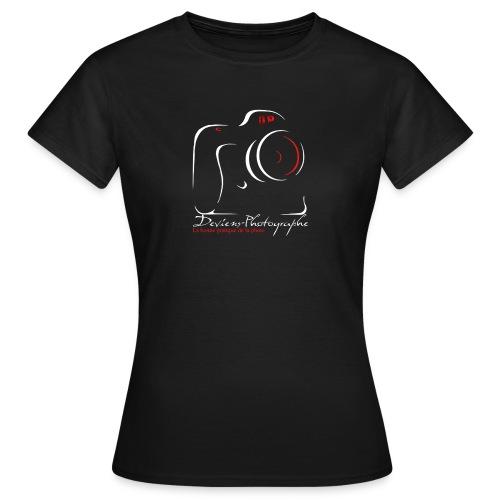 Tee shirt Femme noir grand logo - T-shirt Femme