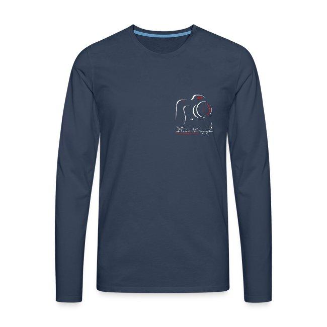 sweat shirt homme - logo DP - blanc 1