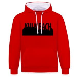 Kapuzen Pulli mit Kulmbach Silhouette - Kontrast-Hoodie