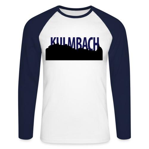 Zweifarbiges Schirt mit Kulmbach Silhouette und Schriftzug - Männer Baseballshirt langarm