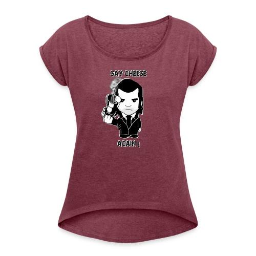 tee shirt - femme - Say cheese again 4 - T-shirt à manches retroussées Femme