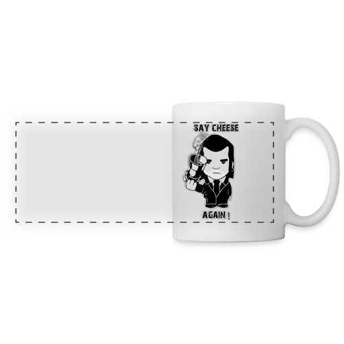 Tasse gaucher - Say cheese again - Mug panoramique contrasté et blanc