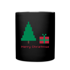 Tasse - 8 bit - merry christmas - Tasse einfarbig
