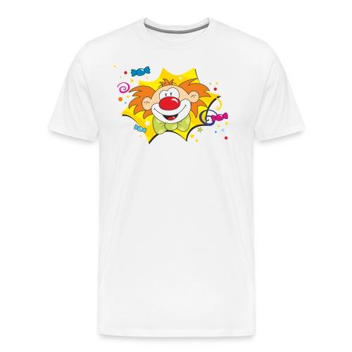 Karneval Clown Bunt RAHMENLOS Geschenk Fasching - Männer Premium T-Shirt