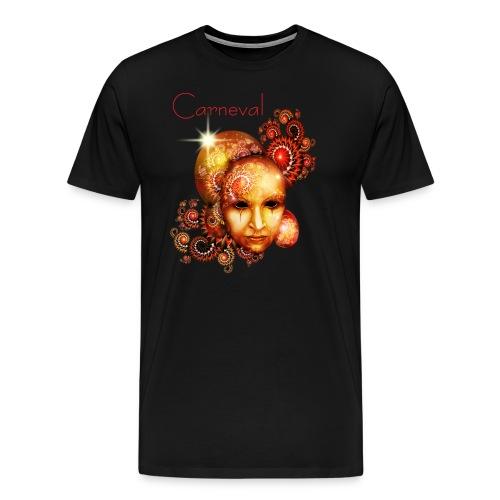 Karneval Carneval Maske RAHMENLOS Geschenk Fasching - Männer Premium T-Shirt