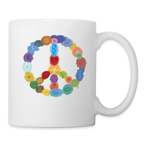 Peace-Sign-in-Colors-Tasse - Tasse