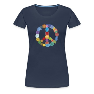 Peace-Sign-in-Colors-Frauen-T-Shirt - Frauen Premium T-Shirt