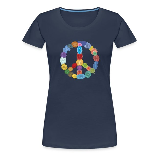 Peace-Sign-in-Colors-Frauen-T-Shirt