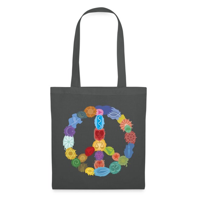 Peace-Sign-in-Colors-Stofftasche