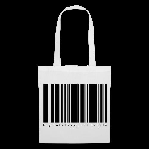 Barcode vit - Tygväska