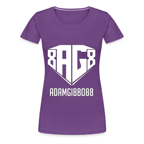 White Logo / Purple Tee - Women's Premium T-Shirt