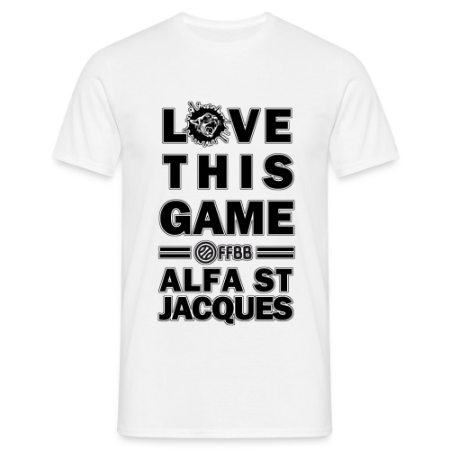 T-SHIRT Love This Game HOMME Blanc - T-shirt Homme