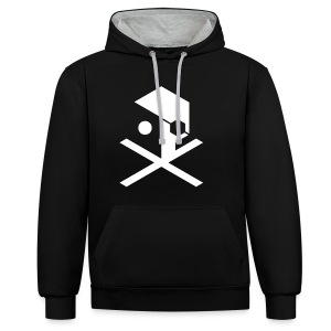 ULTIMATE CROSSBONES - Contrast Colour Hoodie