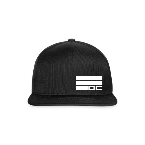 Snapback Cap DC WHITE schwarz - Snapback Cap