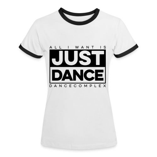 Kontrast Shirt Woman JUST DANCE BLACK white/black - Frauen Kontrast-T-Shirt